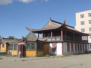 Mijiddorjiin Khanddorj - Khanddorj's house in Ulaanbaatar - a mix of Russian and Chinese influences