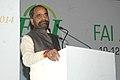 Hansraj Gangaram Ahir addressing at the inauguration of the Fertilizer Association of India annual seminar 2014 on 'Unshackling the Fertilizer Sector', in New Delhi on December 10, 2014.jpg