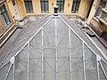 Hatschek house. Big courtyard with glass pyramid roof. - 5 Nyugati Square, Budapest.JPG