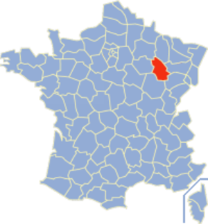 Communes of the Haute-Marne department - Image: Haute Marne Position