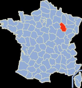 Communes of the Haute-Marne department - Image: Haute Marne Position