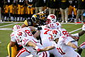 Hawkeyes attempt a Field Goal block against Badgers.jpg