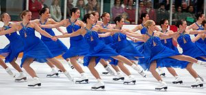 U.S. Figure Skating - Synchronized skating team the Haydenettes in 2006.