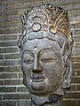 Head of a Bodhisattva Limestone Northern Qi Dynasty (550-577 CE) Hebei Province China.jpg
