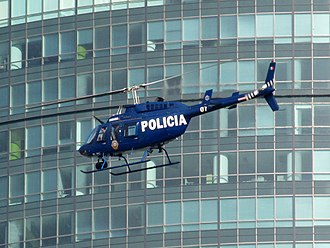 Law enforcement in Mexico City - Agrupamiento Cóndores Bell 206.