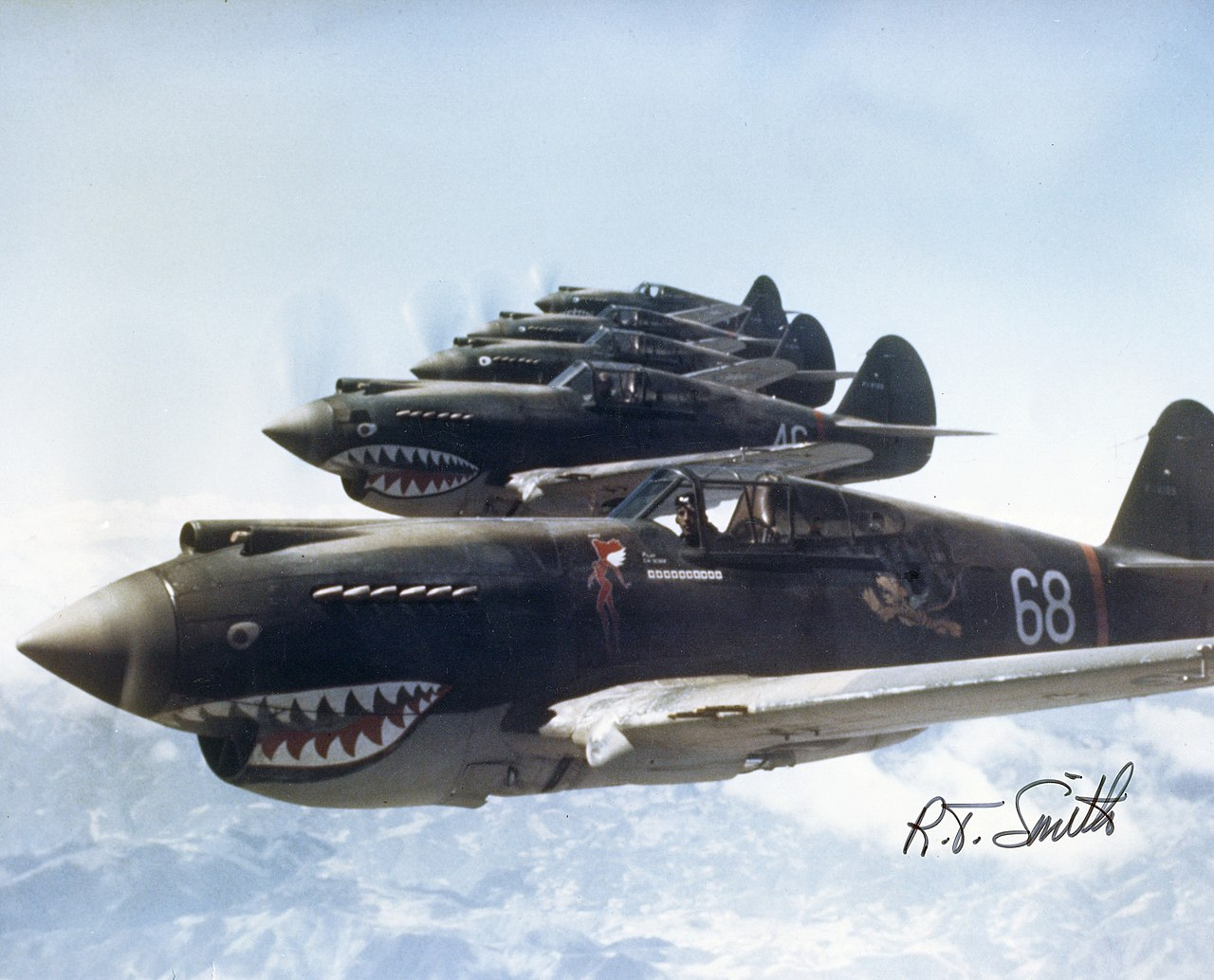 3rd Squadron Hell's Angels, Flying Tigers over China, photographed in 1942