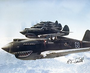 Flying Tigers - 3rd Squadron Hell's Angels,  Flying Tigers, over China, photographed in 1942 by AVG pilot Robert T. Smith