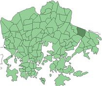 Position of Mellunmäki within Helsinki