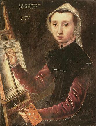 1548 in art - Image: Hemessen Selbstbildnis