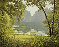 "Henri Biva, Tranquility, oil on canvas, 61 x 74 cm, Signed and dedicated ""a mes chers enfants Lison et Marcelle Maitre, Henri Biva"".jpg"