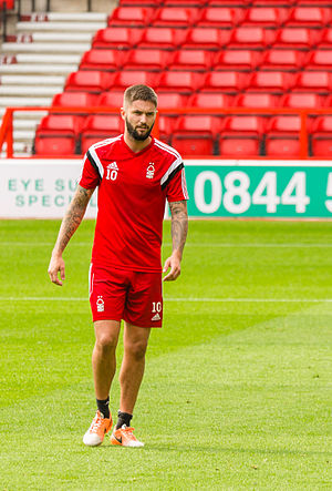 Henri Lansbury - Lansbury in training with Nottingham Forest in 2014