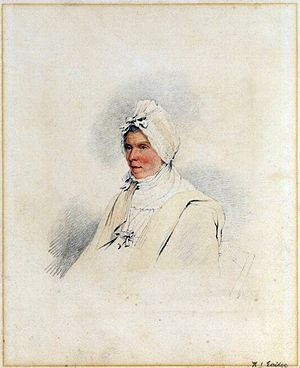 Henry Edridge - Portrait of Ann Constable (1813), mother of John Constable