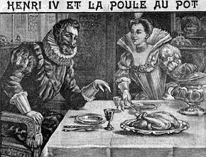 Légende de la Poule au Pot dans POULE et COQ 290px-Henry_IV_et_la_poule_au_pot