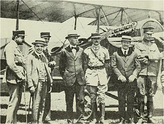 George Washington Air Junction - French aviators with American pilots;   Henry Woodhouse 2nd from left