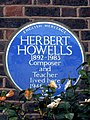 Herbert Howells 1892-1983 Composer and Teacher lived here 1946-1983.jpg