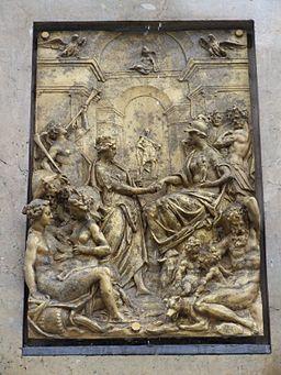 Herkulesbrunnen Augsburg Bronzerelief 2