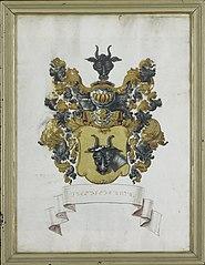 Het wapen van Jacob Feitama II (1698-1774)