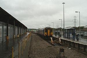 Heysham Port railway station - Image: Heysham Port railway station in 2008
