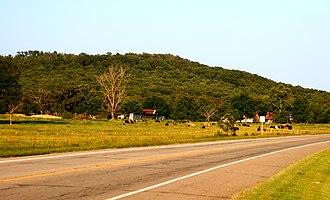 U.S. Route 64 in Arkansas - US 64 runs near Altus.