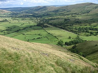 Vale of Edale Valley in the Peak District of England