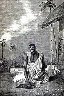Description de l'image Hindu astronomer, 19th-century illustration.jpg.