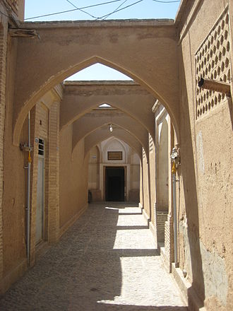 Tabātabāei House - Tabātabāei House Entrance in Kashan, Iran