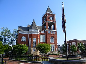Paulding County, Georgia - Image: Historical Paulding County Courthouse Dallas GA