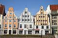Historische Häuser Ossenreyer Straße 12 - 15 in Stralsund.JPG