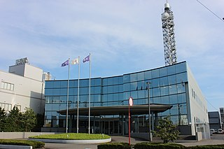 Hokuriku Asahi Broadcasting TV station in Ishikawa Prefecture, Japan