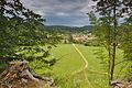 Holštejn - výhled na vesnici ze zříceniny, okres Blansko (02).jpg