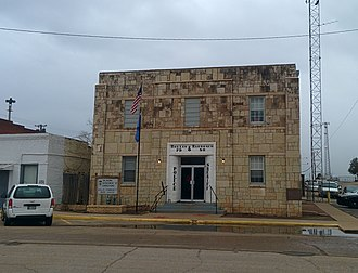 National Register of Historic Places listings in Harmon County, Oklahoma - Image: Hollis City Hall and Jail