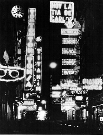 Florida Street - Night view in 1936.