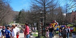 Alfred University - Main Street and part of AU during Hot Dog Day