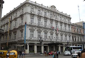 English: The Hotel Inglaterra in Havana, Cuba