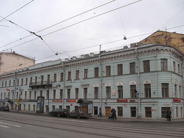 Дом Краевского, в котором размещалась редакция журнала «Отечественные записки», а также находилась квартира Некрасова