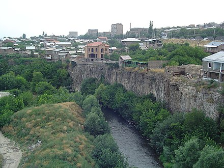 Hrazdan River flowing through Yerevan