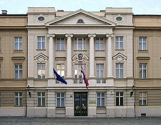 Croatian independence referendum, 1991 - Croatian Parliament building