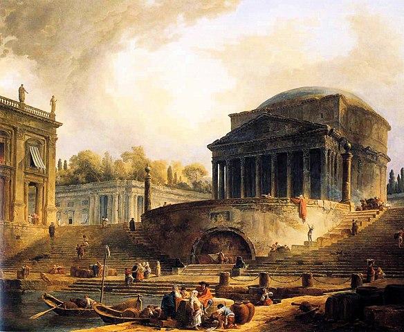 File Hubert Robert Vue Du Port De Ripetta A Rome Jpg