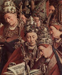 Λεπτομέρεια από τον πίνακα Η λατρεία του Μυστικού Αμνού του Γιαν Βαν Άικ