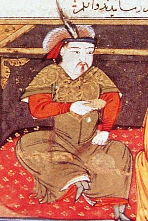 Hulagu Khan - Painting of Hulagu Khan by Rashid-al-Din Hamadani, early 14th century.
