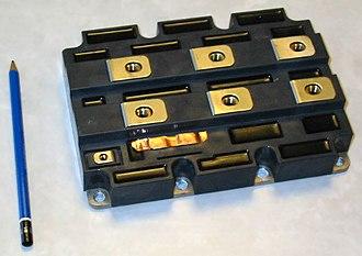 Insulated-gate bipolar transistor - Image: IGBT 3300V 1200A Mitsubishi