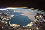 ISS-44 Night view of the Caspian Sea.jpg