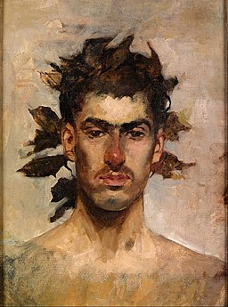 Ignacio Pinazo Camarlench - Bacchus portrait - Google Art Project