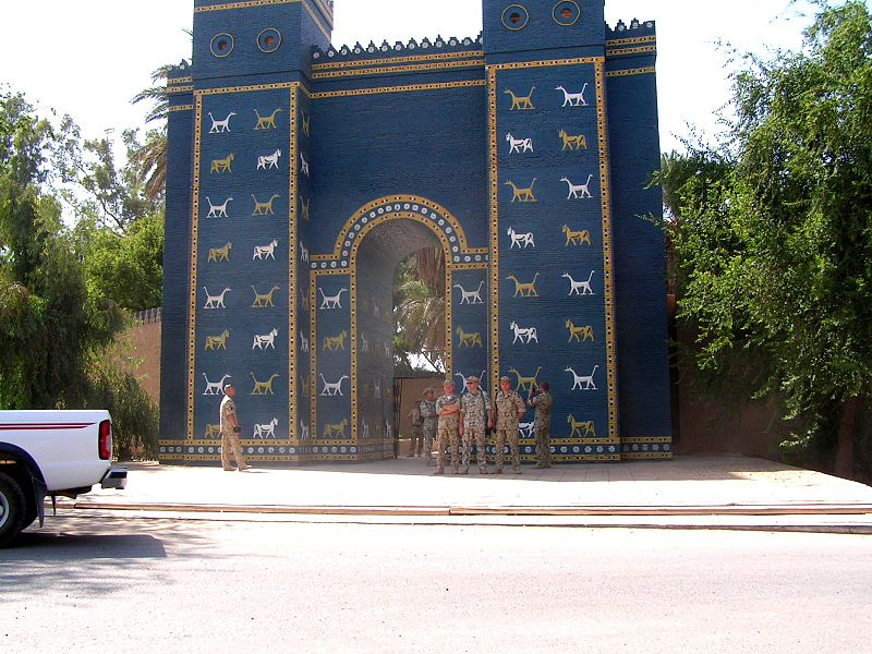 Ishtar Gate replica in Babylon 2004 (Wikipedia Commons)
