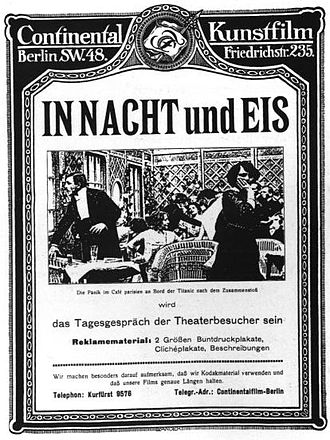 Continental-Kunstfilm - Poster for In Nacht und Eis, directed by Mime Misu