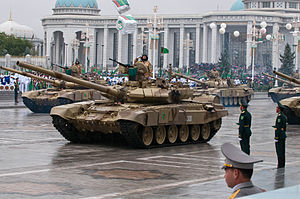 Armed Forces of Turkmenistan - T-90SA and T-72UMG units