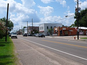 Independence, Louisiana - Looking south on U.S. Route 51