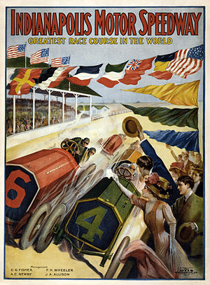 1909 in the United States - Indianapolis Motor Speedway first season poster