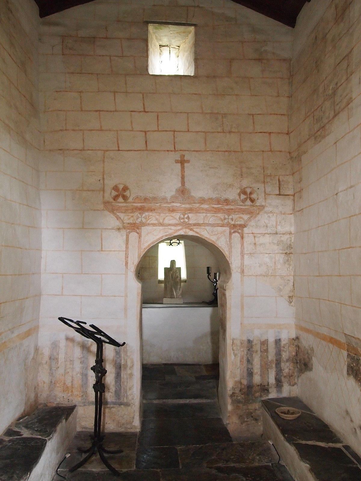 File Interior De La Capilla Del Cipres O Del Salvador De Samos Lugo Jpg Wikimedia Commons