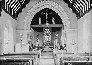 Interior of St. Mary's church, Abbeycwmhir
